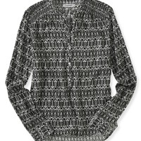 Long Sleeve Smocked Popover Top