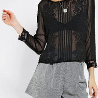 Urban Outfitters - Kimchi Blue Cynthia Embroidered Chiffon Top