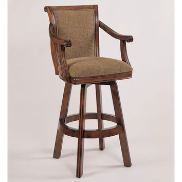 Brandon Warm Cherry Swivel Barstool