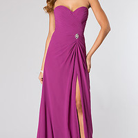Long Strapless Sweetheart Neckline Dress by Mori Lee