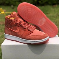 "Air Jordan 1 ""Satin"" Red Women Sneaker Shoe 36-40"
