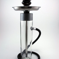 The Smoking Tower Hookah, shisha, glass bottle, ceramic, plastic, hose, bowl, water pipe