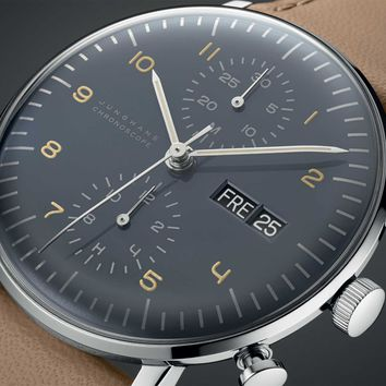 New 2015 Max Bill for Junghans Chronoscope Watch - Gessato Blog