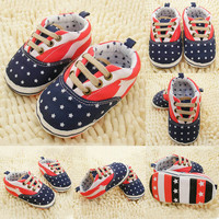 Cute Infant Toddler Baby Boy Girl Non-slip Sole Crib Shoes Prewalker Newborn Hot NW