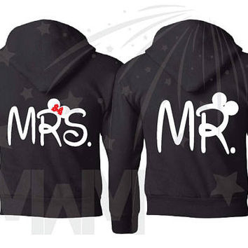 Custom Listing, 1 MRS Shirt, Cute Anniversary Shirt, Minnie Mouse Disney Font, Wedding Date, Married With Mickey, 002