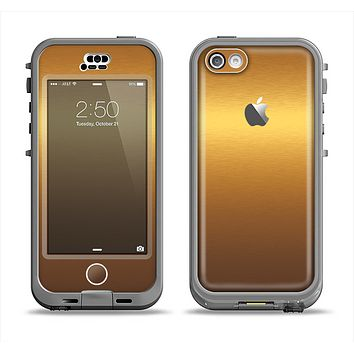 The Gold Shimmer Surface Apple iPhone 5c LifeProof Nuud Case Skin Set