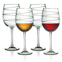 Spiral Design Wine Glasses