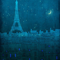 The EIFFEL TOWER in PARIS  Paris illustrationParis art by tubidu