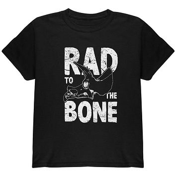 Dinosaur Triceratops Rad to the Bone Youth T Shirt