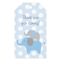 Blue Elephant Party Favor Tags Pack Of Gift Tags