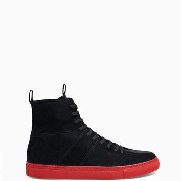 high top roamer / black + red