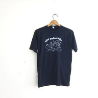 vintage tshirt / Ski Colorado tee shirt / black wash out Tshirt