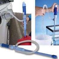 Evelots Battery Operated Liquid Transfer Siphon/Gas Pump Water Fish Tank - Blue