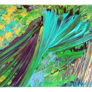 ORIGINAL Abstract 5 x 7 Painting Acrylic Colour by EbiEmporium