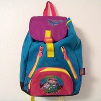 90's LISA FRANK Sea otter Large Animal Club Kid Backpack Bag Purse Festival // Animal Print // 1990s // Vintage // Rave / Rainbow/