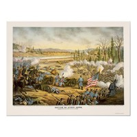 Battle of Stone River by Kurz and Allison 1891 Poster from Zazzle.com
