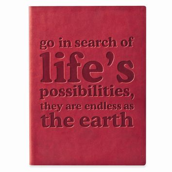 Go In Search Faux Leather Essentials Journal - Embossing Personalized Gift Item