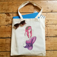 Sassy Mermaid canvas bag