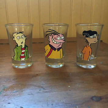 Ed, Edd, and Eddy Shot Glass Set