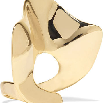 Arme De L'Amour - Ruffle gold-plated ring