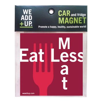 Eat Less Meat Magnet
