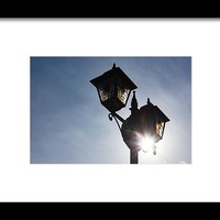 Sunlit Jewels - Stained Glass Lamps And Sunburst Right Framed Print by Georgia Mizuleva