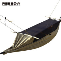REEBOW Tactical Outdoor Survival Tent Men Camping Gauze Military Anti-insect Durable Stable Hammock with SBS Two-side Zipper