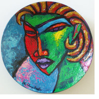 Hand Painted plate #47