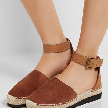 See by Chloé - Shearling-lined suede and leather espadrilles