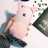Furry 3D Cat Transparent Iphone 6 6 S Plus Case