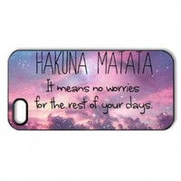 W-supplier iphone 5 case customized Fashion Design Hakuna Matata Series Style Sublimation Printed Hard Plastic Case Snap-on Cover for iphone 5 (4.26Hakuna Matata:W-supplier-06802)