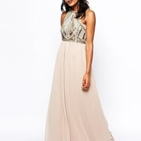 River Island Embellished Top Maxi Dress