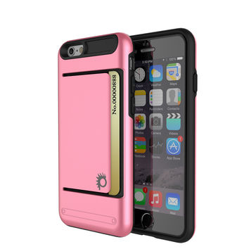 iPhone 6/6s Case PunkCase CLUTCH Pink Series Slim Armor Soft Cover Case w/ Tempered Glass
