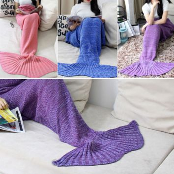 Mermaid Party to Be Adored Blanket Christmas Gift Purple