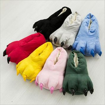 10 Color Candy Color Funny Animal Paw Slippers Cute Monster Claw Slippers Cartoon Slip