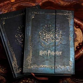 Vintage Harry Potter Notebook Diary with 2017-2018-2019 Calendar Retro Hard Cover Agenda Schedule Planner Book Gift