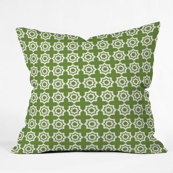 Khristian A Howell Moroccan Mirage Green Throw Pillow