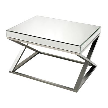 114-41 Klein-Mirror And Stainless Steel Coffee Table