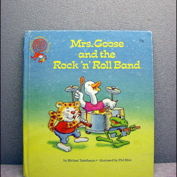 1988 Mrs Goose and the Rock n Roll Band Vintage Childrens Book