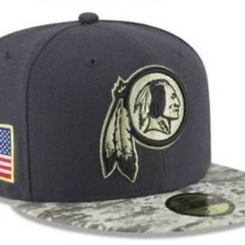 Washington Redskins New Era 59FIFTY NFL Salute To Service Fitted Cap 5950 Hat