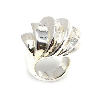 DCCKAB3 Simon Sebbag Sterling Silver Large Wave Ring R203