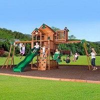 Sam's Club Mobile - Skyfort II Cedar Swing Set / Play Set with Slide