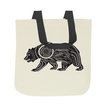 Ornate Bear Tote Bag