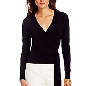 DVF Ballerina Lightweight Wrap Sweater
