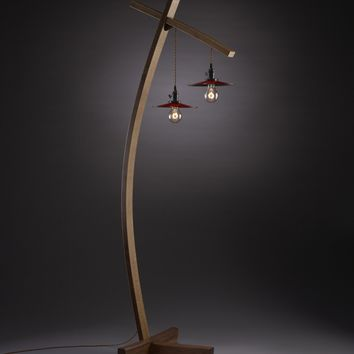 Twice Aglow by Brian Hubel: Wood Floor Lamp | Artful Home