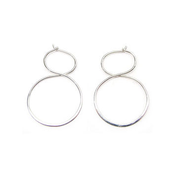 Figure Eight Hoop Earrings