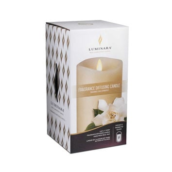 Fragrance Diffusing Pillar Candle - Ivory - 3.5 x 7 inches