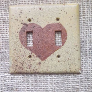 Rustic Heart Light Switch