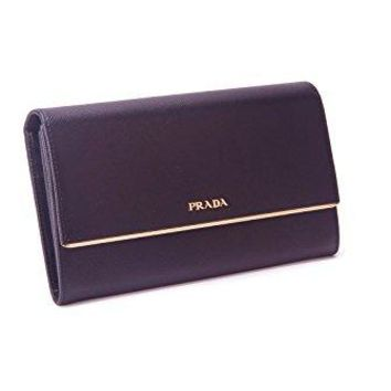Prada Black Saffiano Leather Clutch Purse Hand Bag