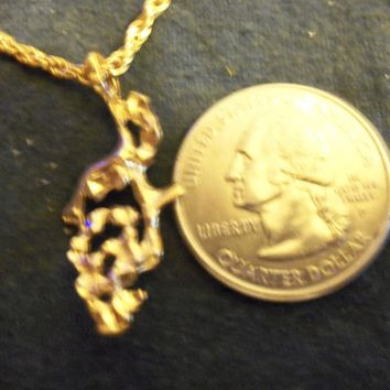 bling 14kt yellow gold plated dude money designed nugget sign symbol casino pendant charm 24 inch rope chain hip hop trendy fashion necklace jewelry